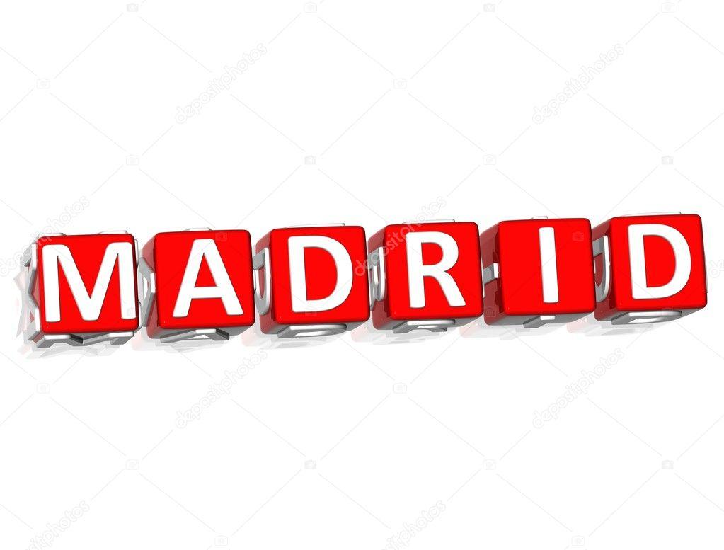 Madrid Block text — Stock Photo © M_Prusaczyk #5044840