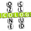 Ozone Cloud Ecology Crossword — Stock Photo