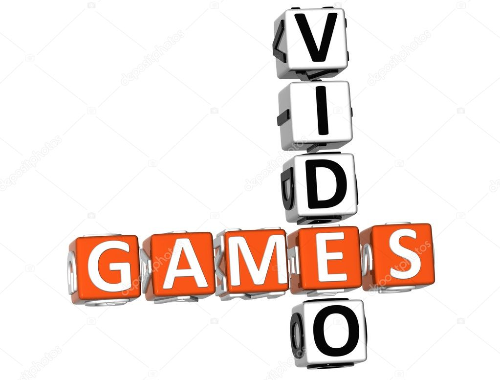 3D Video Games Crossword on white background — Stock Photo #5154210