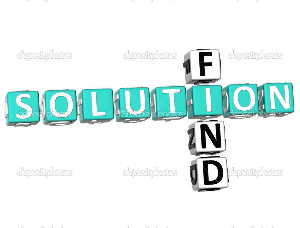 3D Find Solution Crossword on white background — Stock Photo #5154232