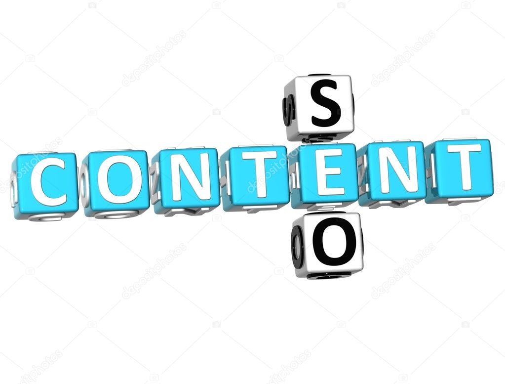 3D Seo Content Crossword on white background — Stock Photo #5206174