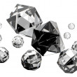 Isolated beautiful diamonds — Foto Stock
