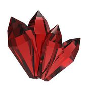 Isolated beautiful crystal — Stock Photo