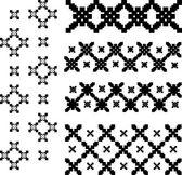 Ornament black vector illustration — Stock Vector