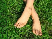 Pedicured beauty feet — Stock Photo
