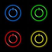 Encendido apagado botón colección — Foto de Stock