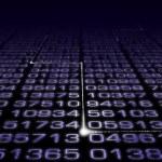 Digital Number Matrix — Stock Photo