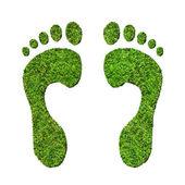Green footprints — Stock Photo