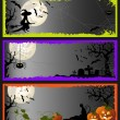 Halloween template banners — Stock Vector