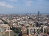 Panoramic view of Barcelona, Spain — Stock Photo