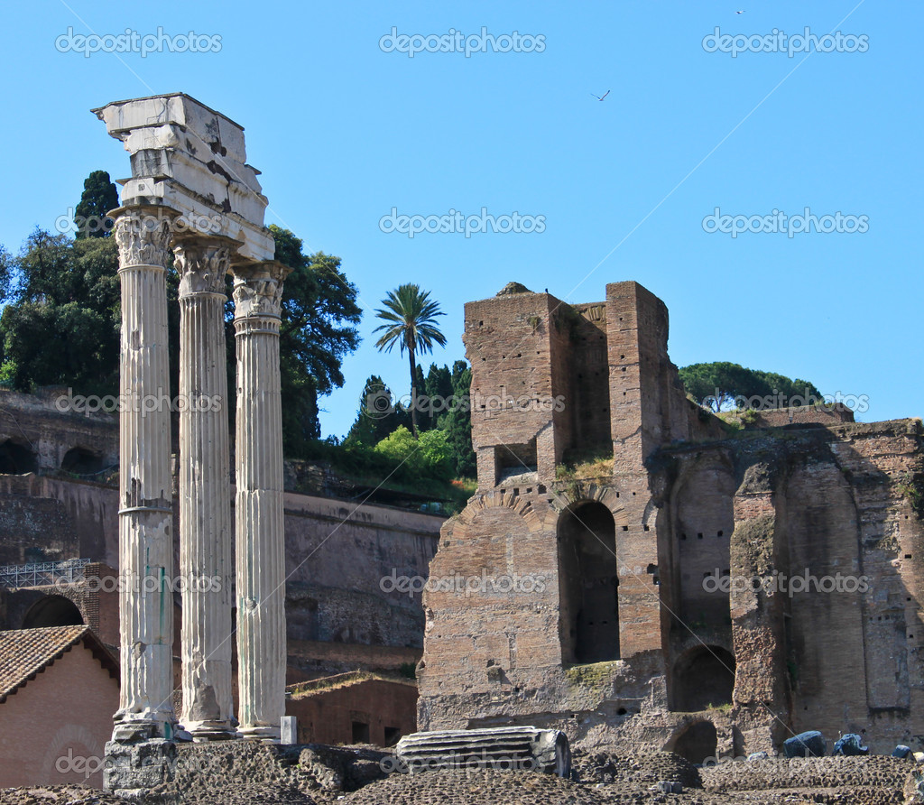 The Roman Forum in Rome  — Stock Photo #3625712