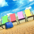 Deck chairs and case - Stock Photo