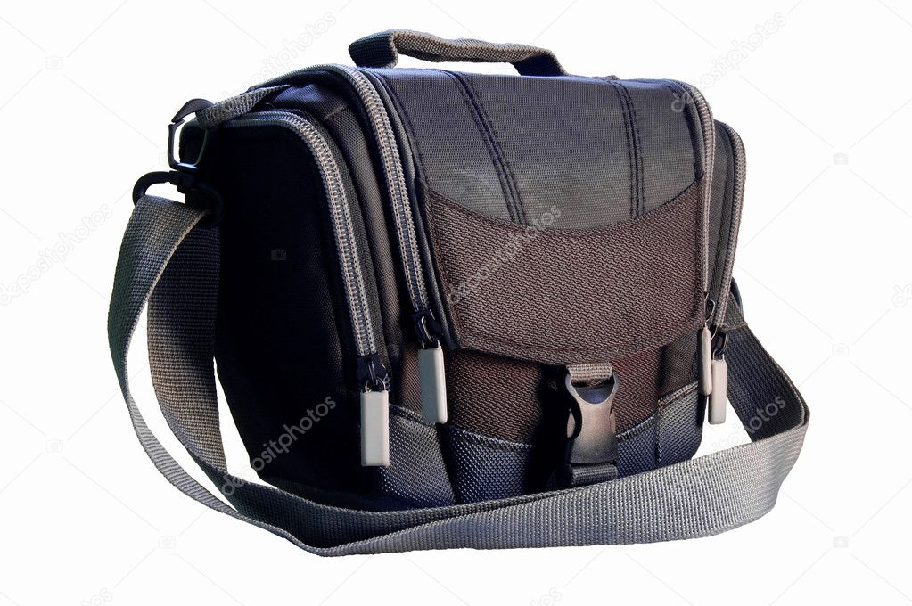 Bag for a photo. Camera case. Isolated against a white background. — Stock Photo #3593832
