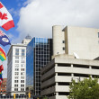 National flags in downtown of Grand Rapids — Stock Photo #3575120