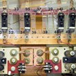 Stock Photo: Breaker panels in power plant