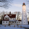Last rays of sun on North Point Lighthouse — Stock Photo