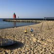 Charlevoix South Pier Lighthouse — Stock Photo