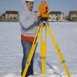 Stock Photo: Winter time surveying