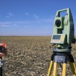 Stock Photo: Surveying Equipment in field