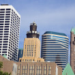 Colorful Buildings in Minneapolis — Stock Photo