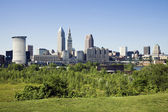 Summer panorama of Cleveland — Stock Photo