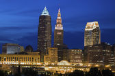 Cleveland seen late evening — Stock Photo