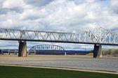 Louisville'deki köprüler — Stok fotoğraf