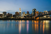 Skyline of Cincinnati — Stock Photo