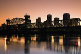 Sunset in Little Rock, Arkansas. — Stock Photo