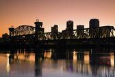 Sunset in Little Rock, Arkansas. — Stock Photo