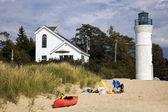 帝国、ミシガン州、米国の灯台. — ストック写真