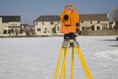 Surveying suburban area — Stock Photo