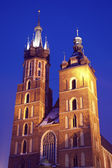 St. Mary's Church in Krakow — Stok fotoğraf