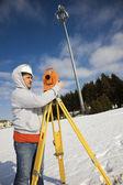 Surveying cellular compound — Stock Photo