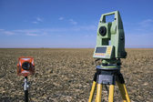 Surveying Equipment in the field — Stock Photo