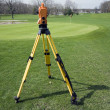 Stock Photo: Land surveying golf course