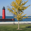 Lighthouse in Kenosha, Wisconsin - Stock Photo
