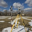 Stock Photo: Winter land surveying