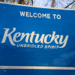 Stock Photo: Welcome to Kentucky