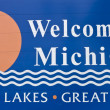 Stock Photo: Welcome to Michigan