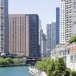Royalty-Free Stock Photo: Apartments along Chicago River