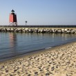 Stock Photo: Charlevoix South Pier Lighthouse