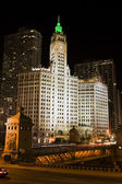 černá noc v chicagu — Stock fotografie