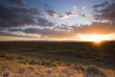Sunset on Prairie — Stock Photo