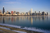 Frozen Lake Michigan in Chicago — Stock Photo