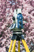 Spring surveying — Stock Photo