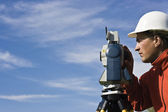 Behind Theodolite — Stock Photo