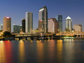 Colorful downtown of Tampa — Stock Photo