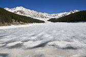 Lake in Rockies — Stock Photo
