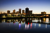 Blue hour in Little Rock — Stock Photo